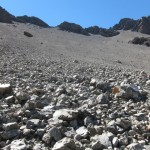 Frank coming down the Scree
