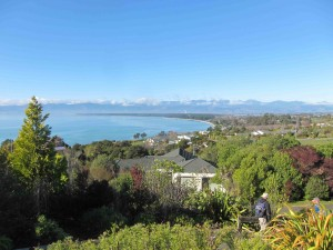 Looking Down on Ruby Bay and Mapua with the Richmond Ranges on the Skyline.
