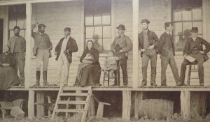Cable Station staff in the 1870s.